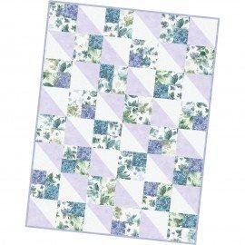 Pod Four Square Quilt  Watercolor Hydrangeas MAS07-WAH