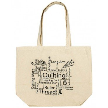 Quilting Words Tote Bag  QWTB