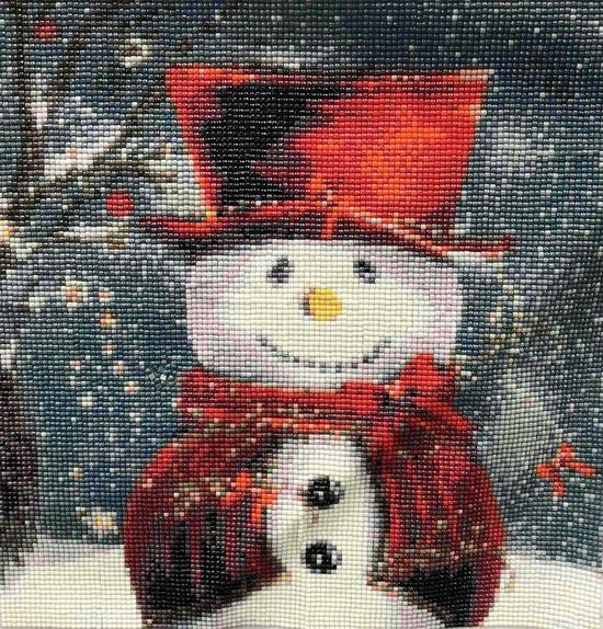 5D Red Hat Snowman f055