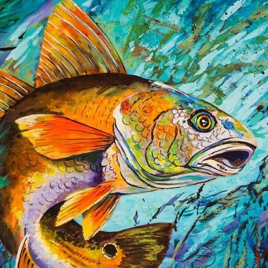 5D Red Fish 12x12