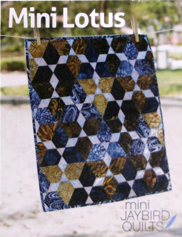 Mini Jaybird Quilts Mini Lotus mini quilt 17 1/2 x 20 1/2