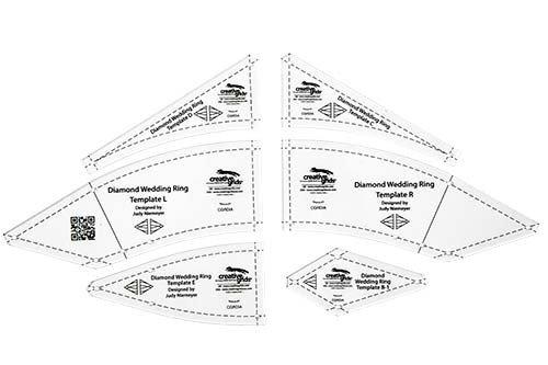 creative grids diamond wedding ring templates 6 pcs cfrdia