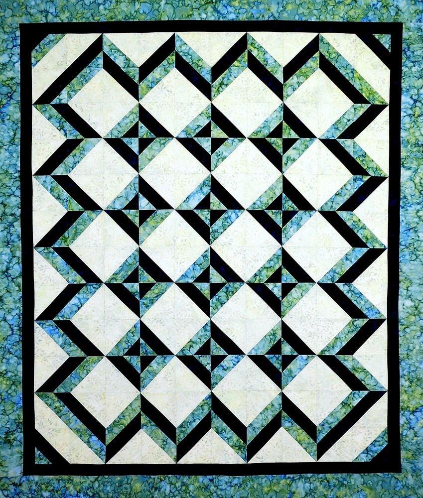 Cut Loose Press, Tropical Blues, Quilt Pattern CLPKSE003