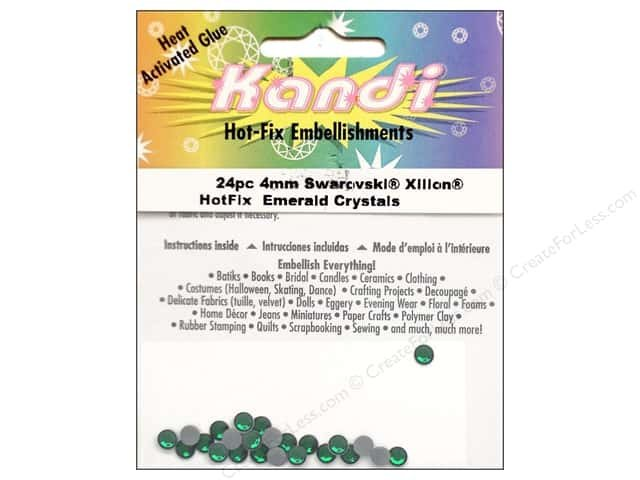 Kandi Corp Pre-glued Hot fix embellishments Emerald