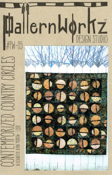Patternworkz Design Studio Joanie Morrow Contemporized Country Circles quilt pattern #PW-05