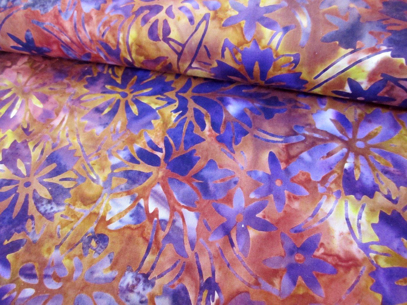 Anthology Batik Purple Leaf