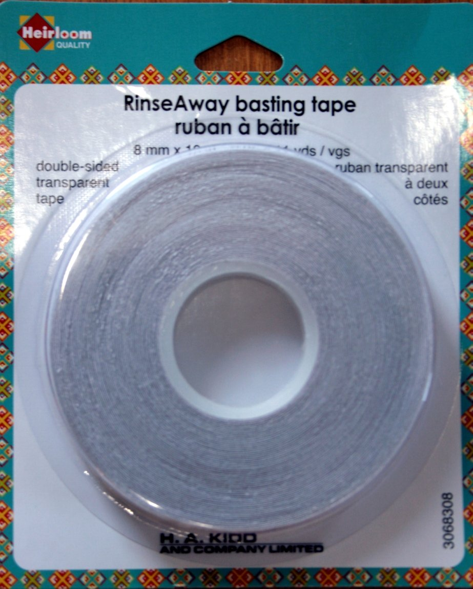 Heirloom Rinse Away basting tape
