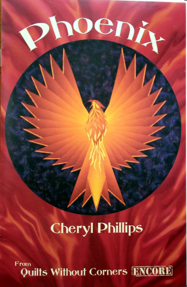 Phillips Fibre Art pattern, Quilts Without Corners, Cheryl Phillips, Phoenix