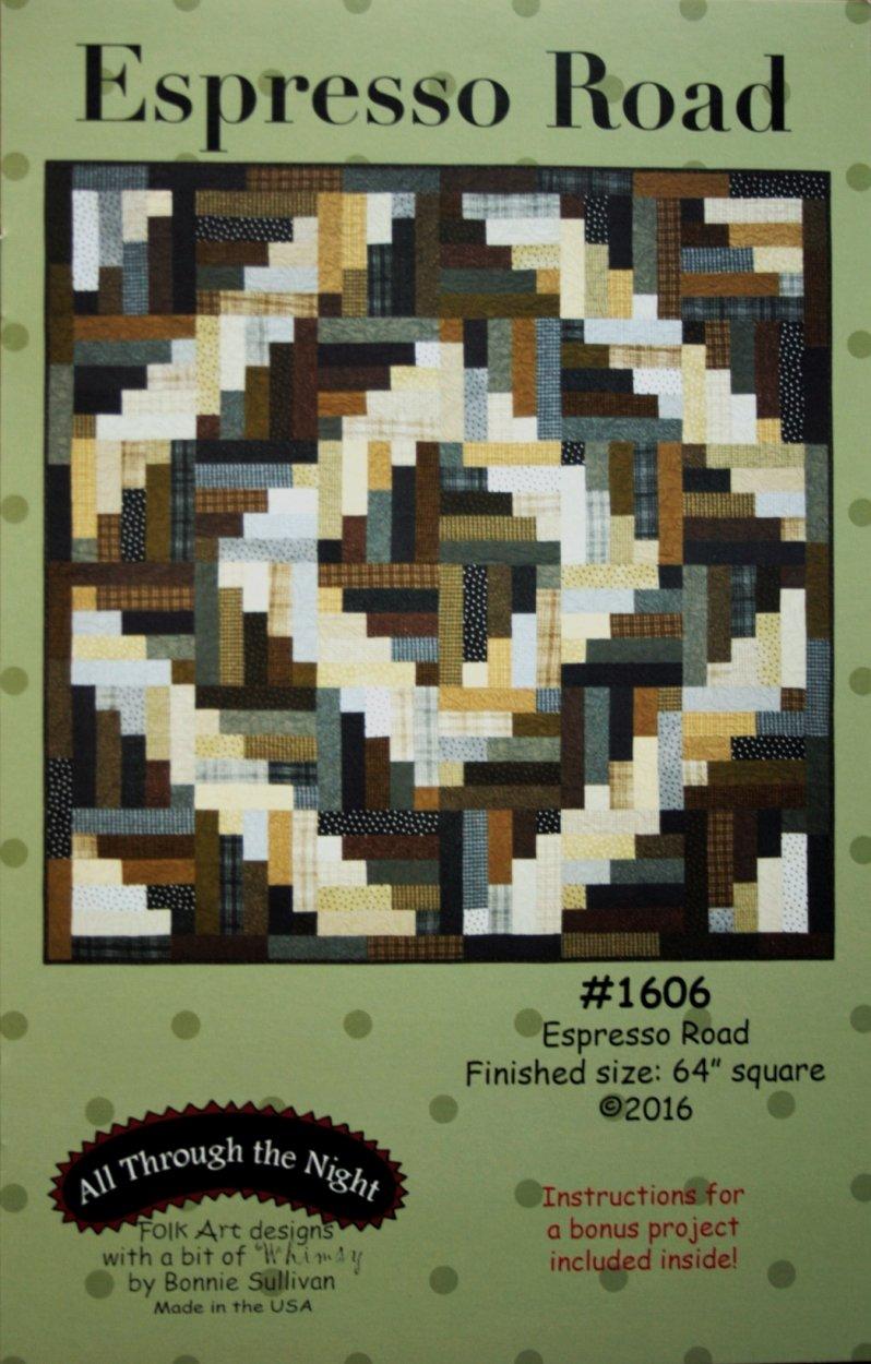 Folk Art designs, Bonnie sullivan,  Espresso Road, 64 square