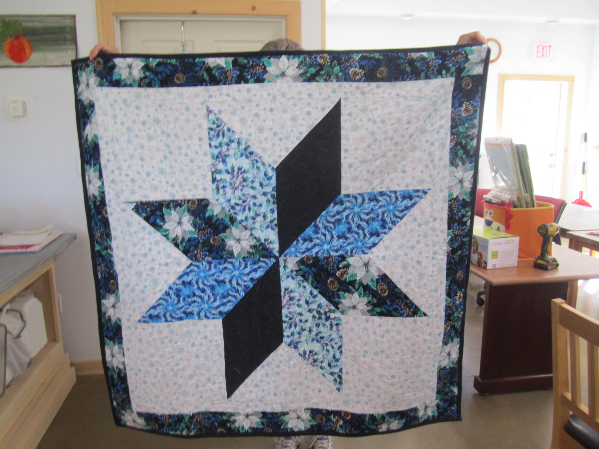 Flannel Star Blanket   50 X 50