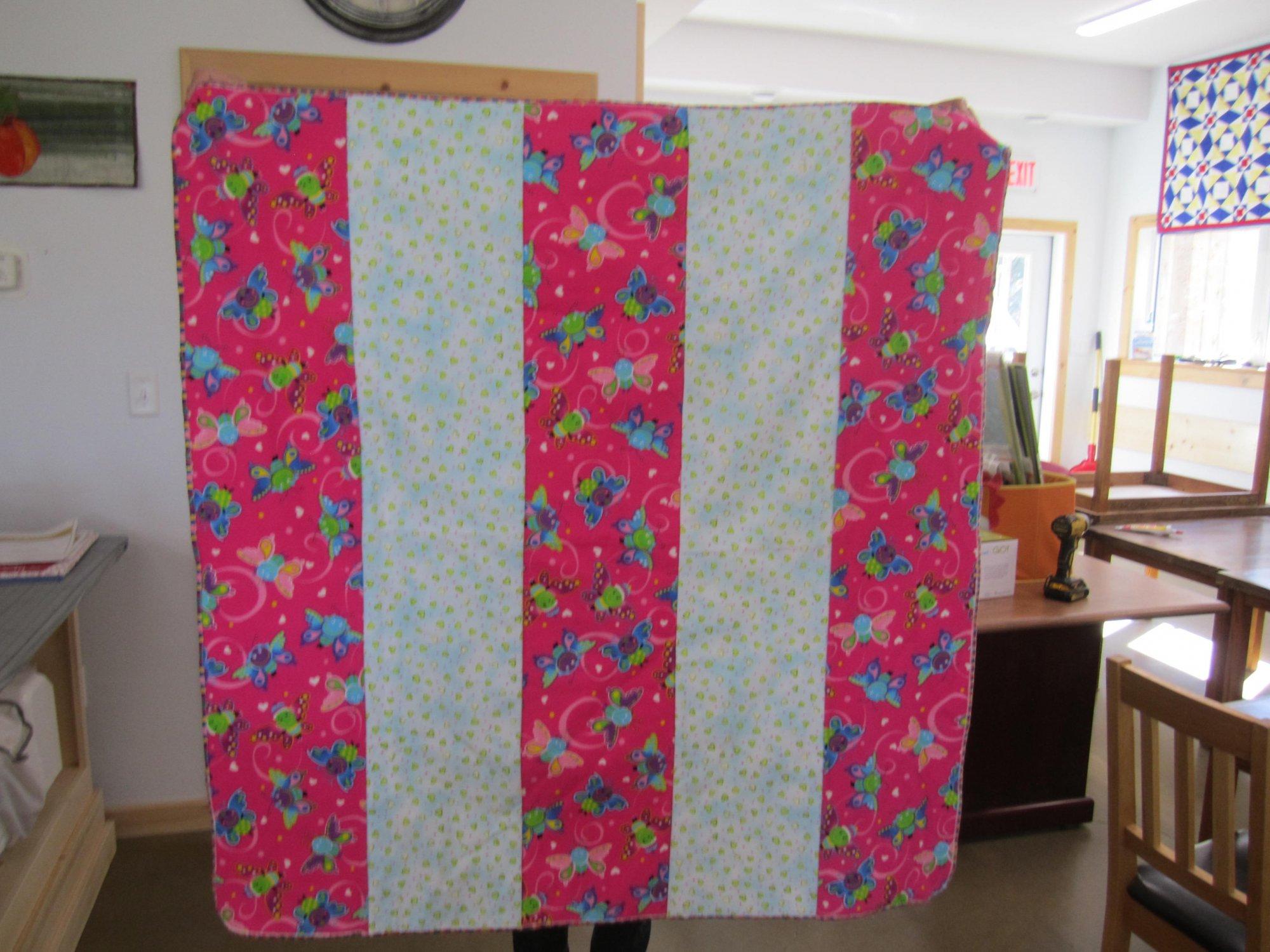 Butterflies    blanket       38 X 40