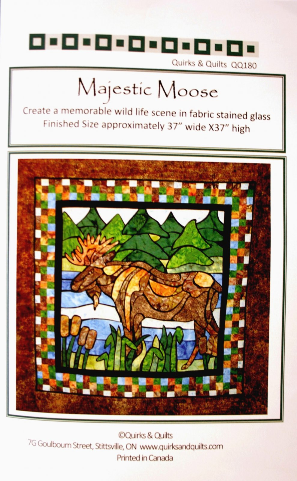 Quirks and Quilts Majestic Moose QQ180pa