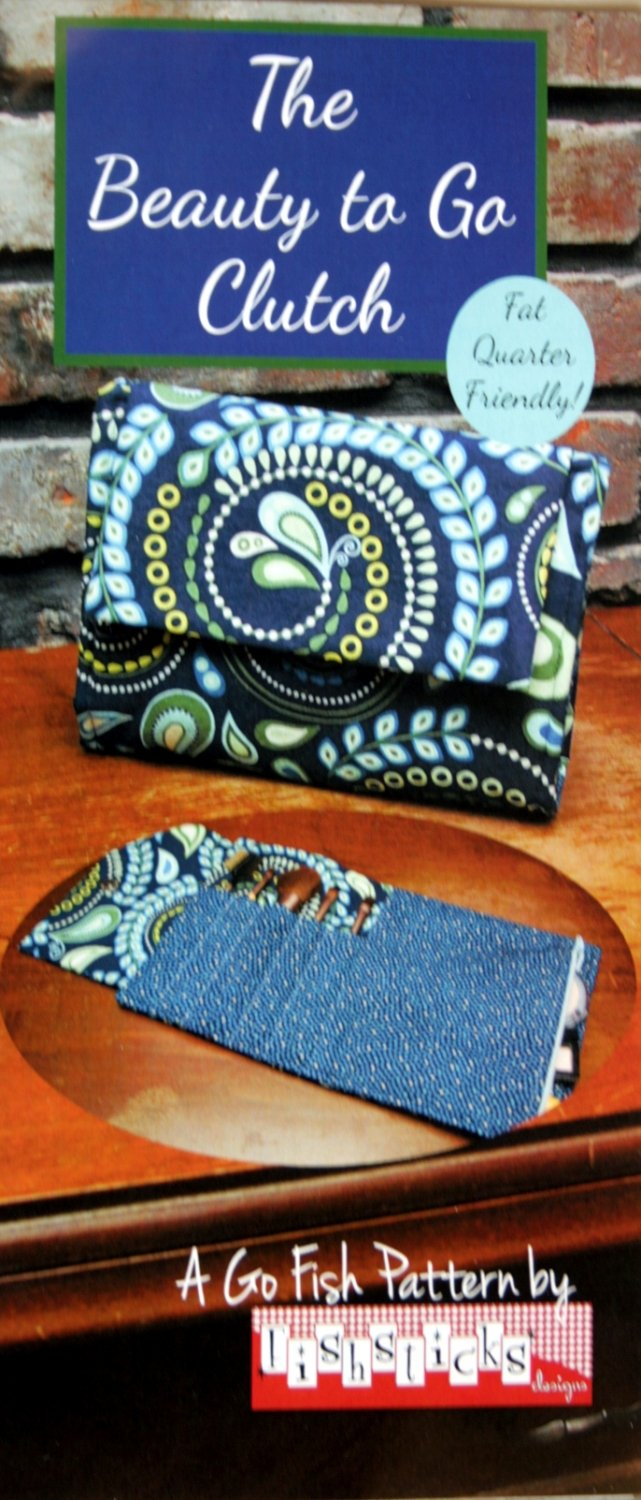 A Go Fish pattern by Fishsticks, The Beauty To Go Clutch