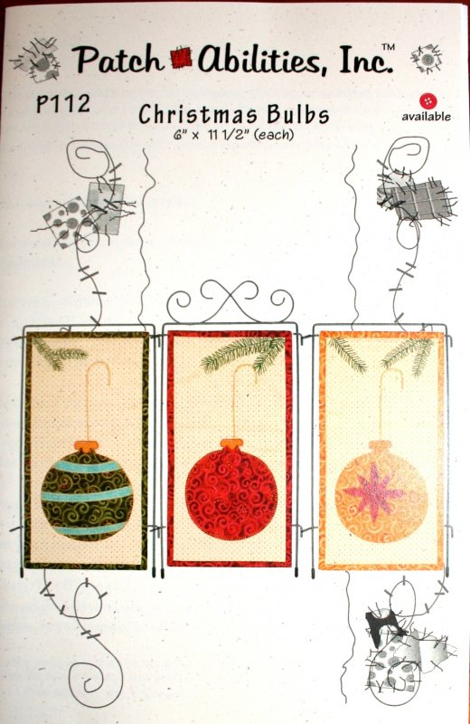 Pattern Patch Abilities Christmas Bulbs P112