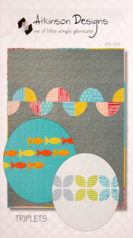 Atkinson Designs Triplets 45 x 57 quilt pattern