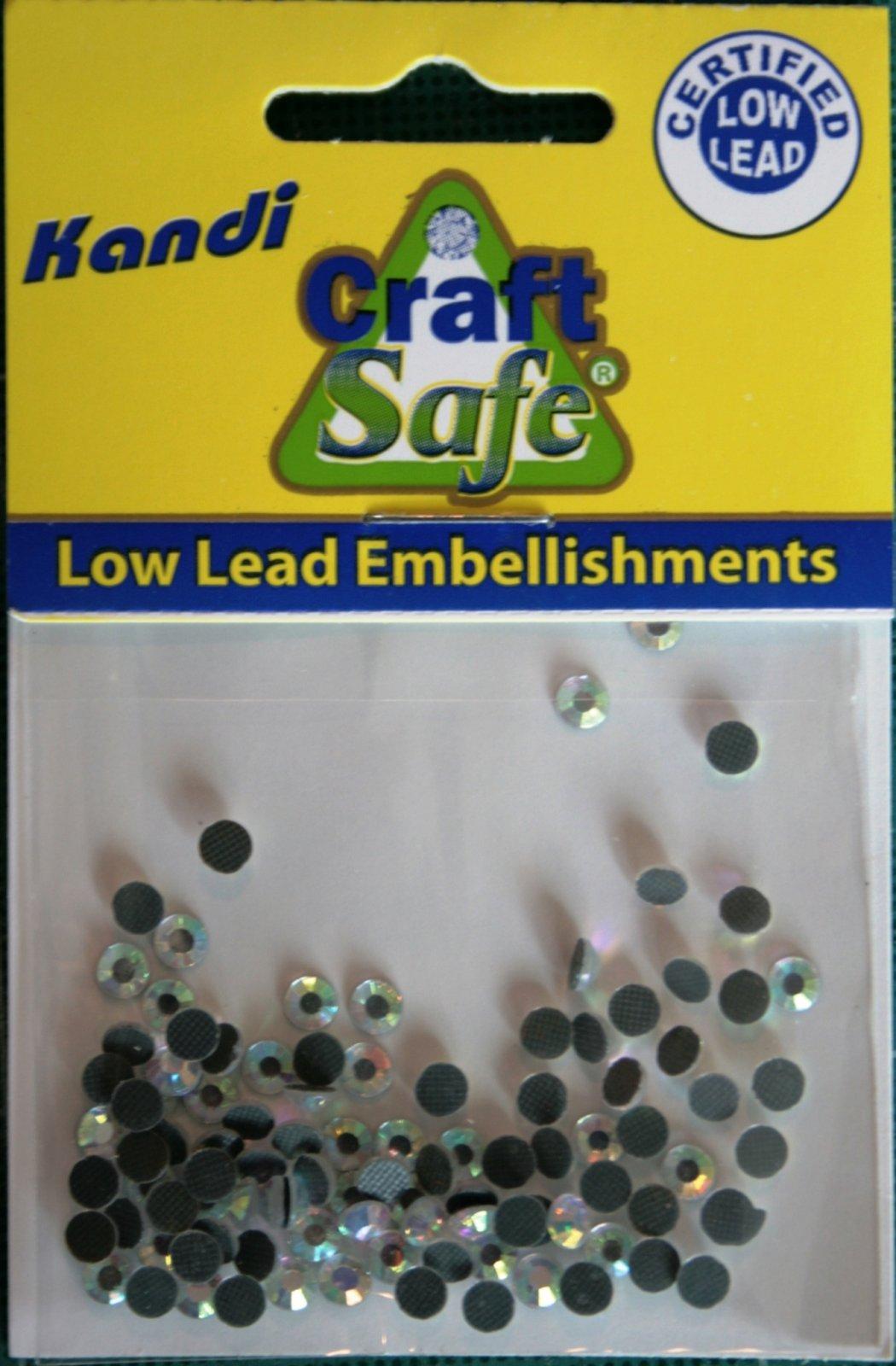 Kandi Corp Pre-glued Hot fix embellishments Crystal AB