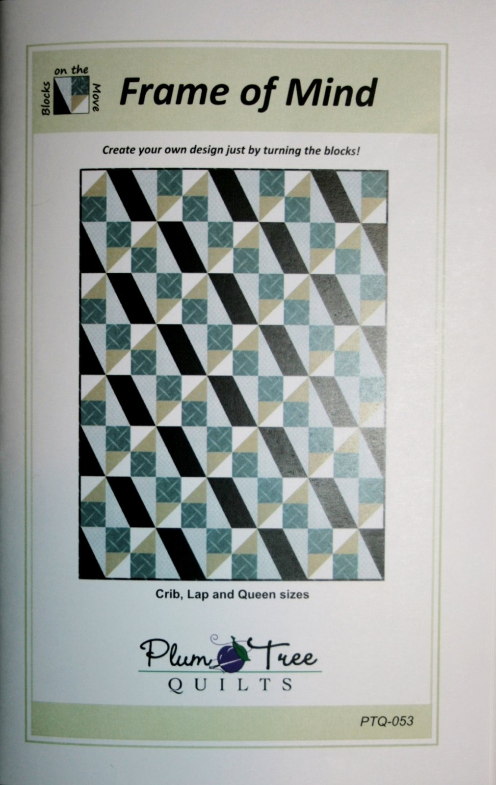 Plum Tree Quilts Frame of Mind quilt pattern PTQ-053 - 738435949273
