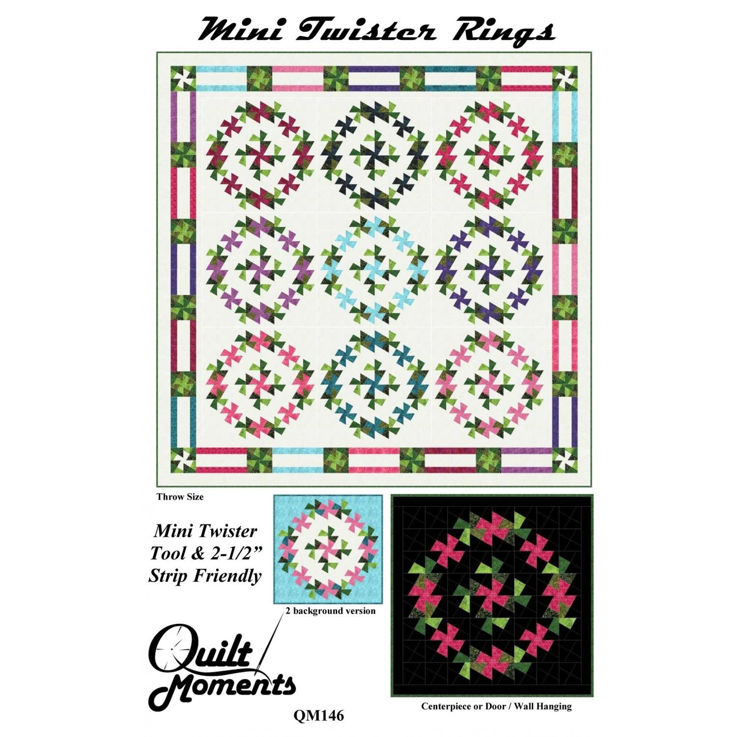 Mini Twister Rings Quilt pattern by Quilt Moments