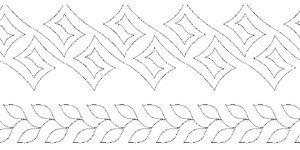 Golden Threads Pantograph Quilting Patterns RD#75