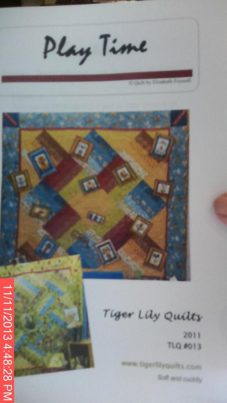 Tiger Lily Quilts Play Time TLQ #013