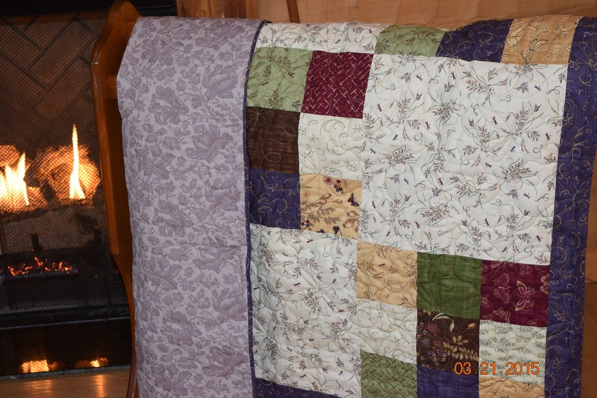 ENCHANTED POND BABY QUILT 45 X 45