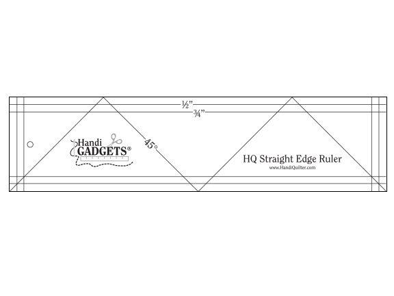 Ruler - HQ Straight Edge Ruler 3 x 12