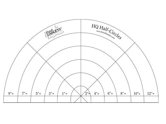 Ruler - HQ Half Circle 1 - 12