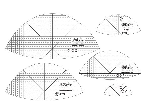 Ruler - HQ Arc A 12, 10, 8, 6, 4