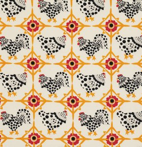 Fowl Play Chicken Tiles PWLD029-Ivory