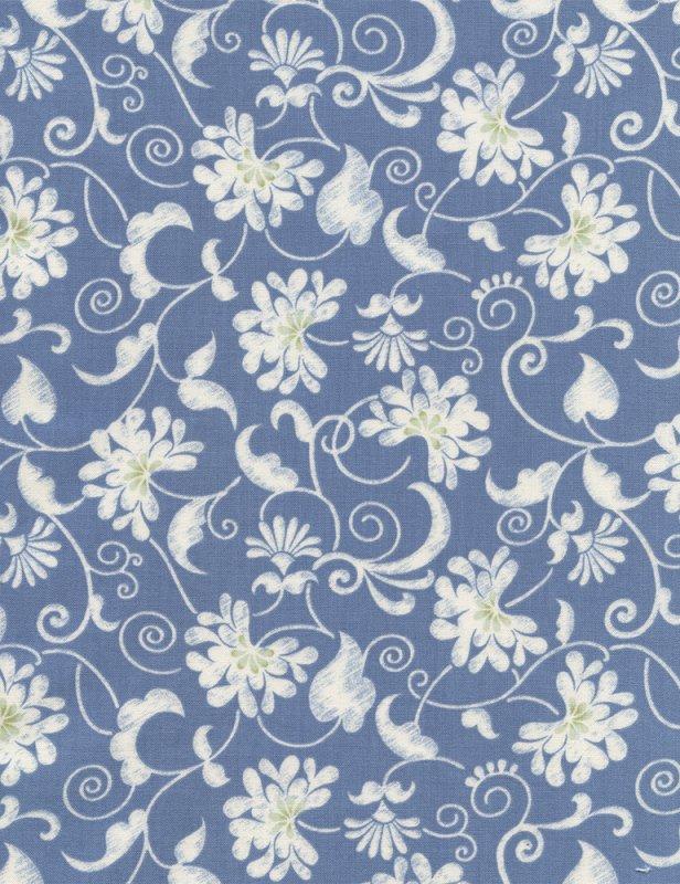 Reflections Floral Vines Blue C2061-BLUE