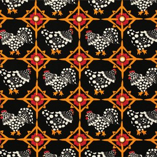 Fowl Play Chicken Tiles PWLD029-Black