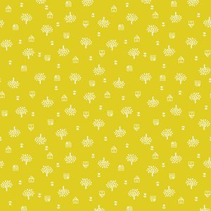 Around Town, Studio E Fabrics, Small scale tree/floral, 2946-44, yellowish green