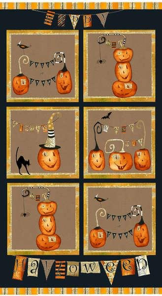 Cheeky Pumpkins, Panel, Studio E Fabrics,