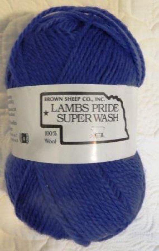 Bon Vivant Blue, Lambs Pride Superwash, wool yarn, washable wool, blue yarn, Brown Sheep Company, Mitchell Nebraska, Made in the USA, SKU# SW176 003