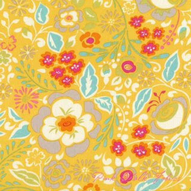 Taza, Lisa, Dena Designs, FreeSpirit Fabrics, Yellow floral, SKU# PWDF108