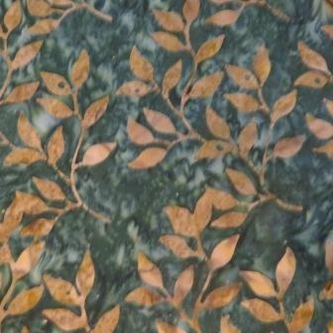 Fat Quarter Bon Voyage Batiks, Laundry Basket Quilts, Moda, green floral stem, 42020 40