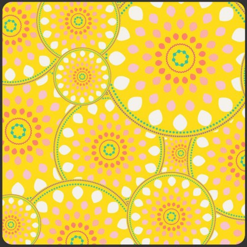 Sugar, Art Gallery Fabrics, Yellow wheels, SKU# SU-805