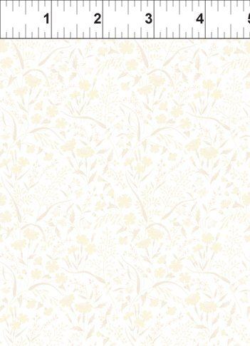 ITB Fabrics - Garden Delights - Grey Sky Studio 8GSE 5 - Light yellow and grey