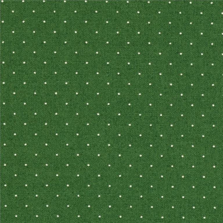 American Jane Pindot, American Jane, dark green white pindot, fabric ...