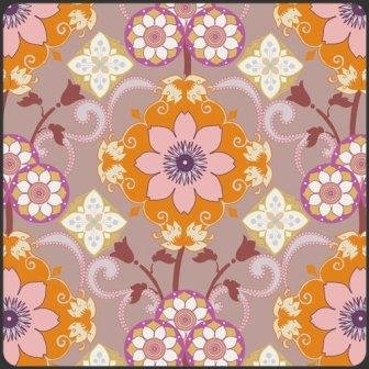Bazaar Style, BA-401, Art Gallery Fabrics, Modern, Purple with Orange Floral