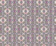 Coquette, CO-9208, Art Gallery Fabrics, Grey with Purple, Pink and White circles