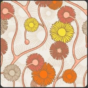 Naturella, Art Gallery Fabrics, Yellow/Orange Large Stylized Daisies