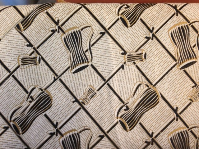 African Print Fabric-Modern Squares and Drums:  Fiber Content Unknown