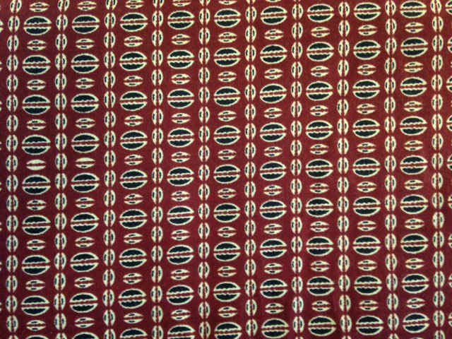 African Print Fabric-Half Oval Designs: Fiber Content Unknown