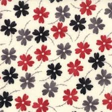 Mama Said Sew, Moda, Sweetwater, Red,Black, and Grey Print Flowers
