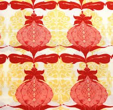 Pomegranate , Lilliput Fields, Tina Givens, FreeSpirit, Fresh Modern Fabric, Large Scale Print Fabric, Quilting Supplies