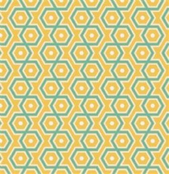 Hexagons, Notting Hill, Joel Dewberry, FreeSpirit, Yellow and Blue Hexagons