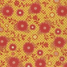 PB & J Yellow and Red Floral, Basic Grey, Moda, 30322 17