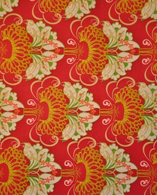 Filigree, Art Gallery Fabrics, Modern, Red Floral