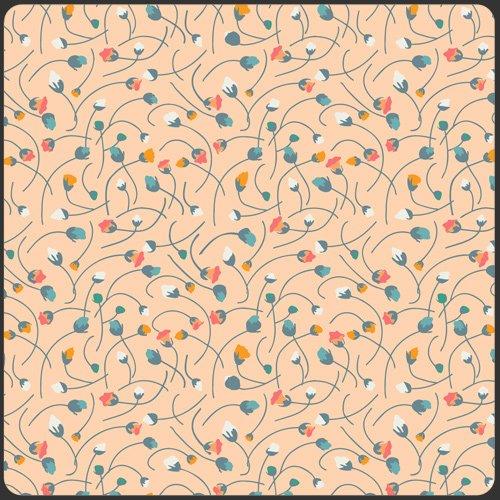 Naivety Cream, Blue Crush, SML-207, Art Gallery Fabrics, small scale ecru floral print